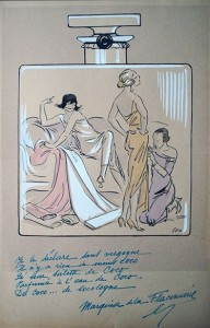 Chanel N.º 5. A caricature by the artist Georges Goursat.