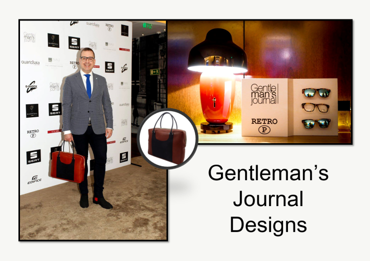 João Jacinto & his designs at Gentleman's Journal event.
