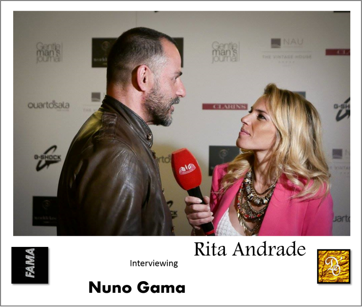 It's a Man's World Event | From left to right: Nuno Gama (Fashion Designer) & Rita Andrade (Fama Show TV Show).