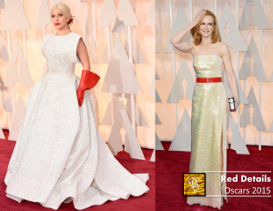 Red details trending | Lady Gaga & Nicole Kidman | Oscars 15
