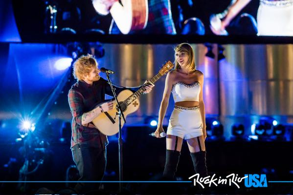 Ed Sheeran & Taylor Swift at Rock in Rio USA